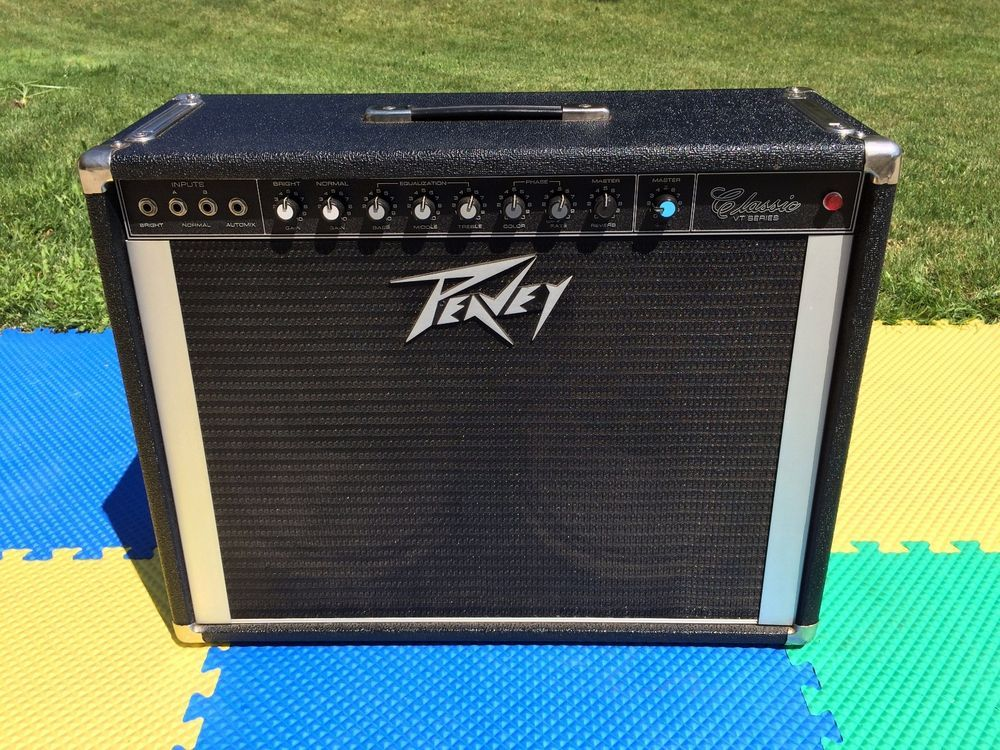works perfectly peavey 212 classic vt series 2x12 combo speaker tube guitar amp instruments. Black Bedroom Furniture Sets. Home Design Ideas