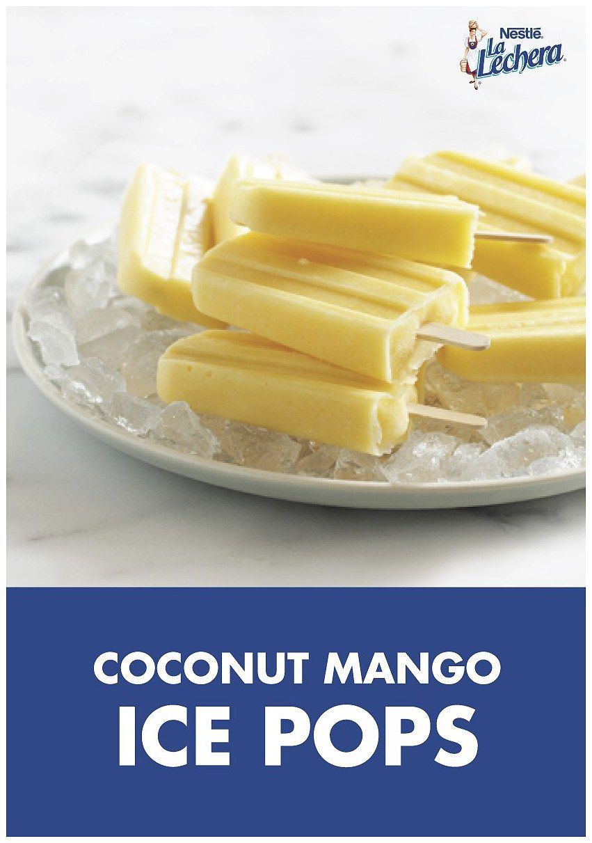 Photo of Enjoy the flavors of the season with these 3-Ingredient Coconut Mango Ice Pops! …