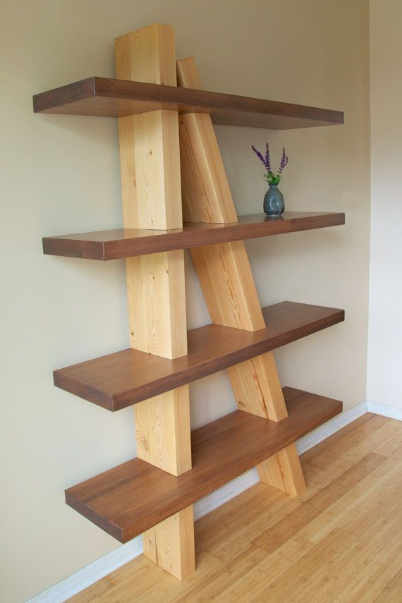 Off Kilter Shelf Quirky Solid Timber Shelving By Nesttimbercraft