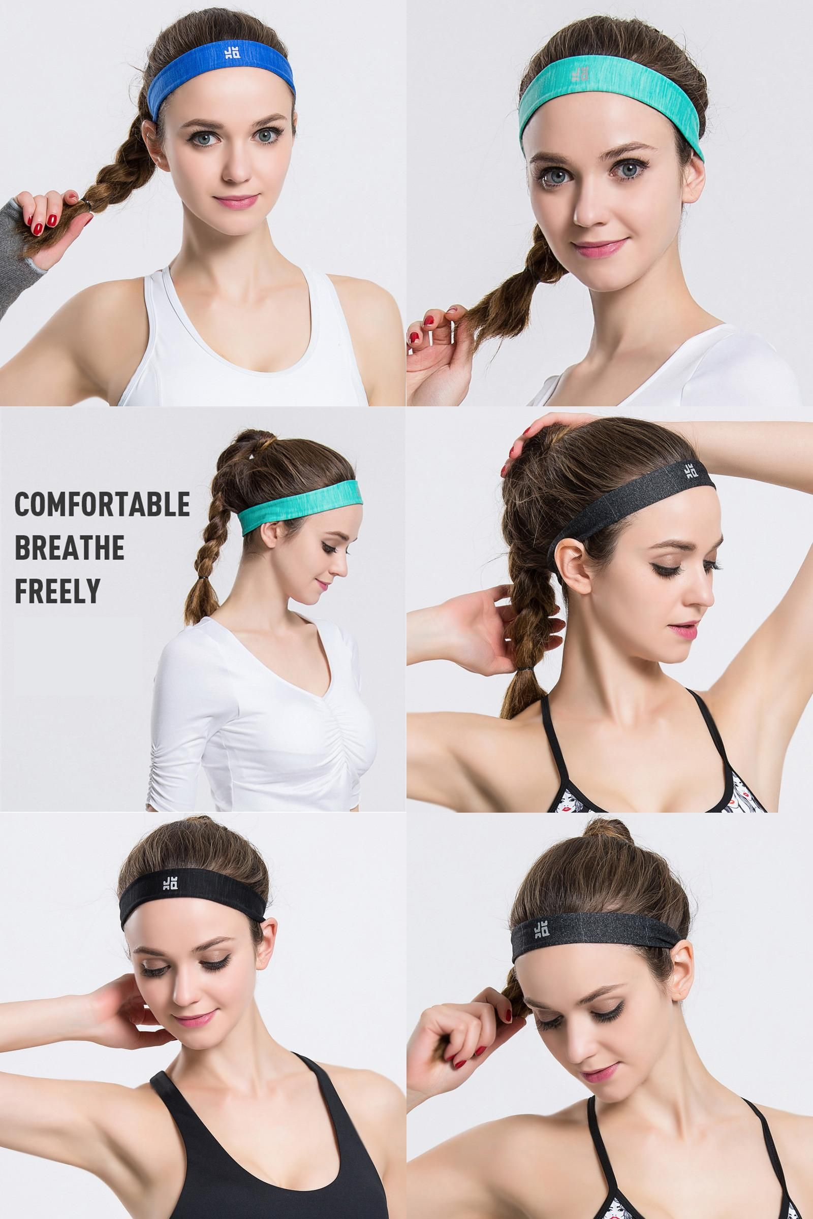 Visit to Buy  New Men Women Sweatband Quick Dry Hair Bands Sweat Absorbing  Running 2d8cb10e57