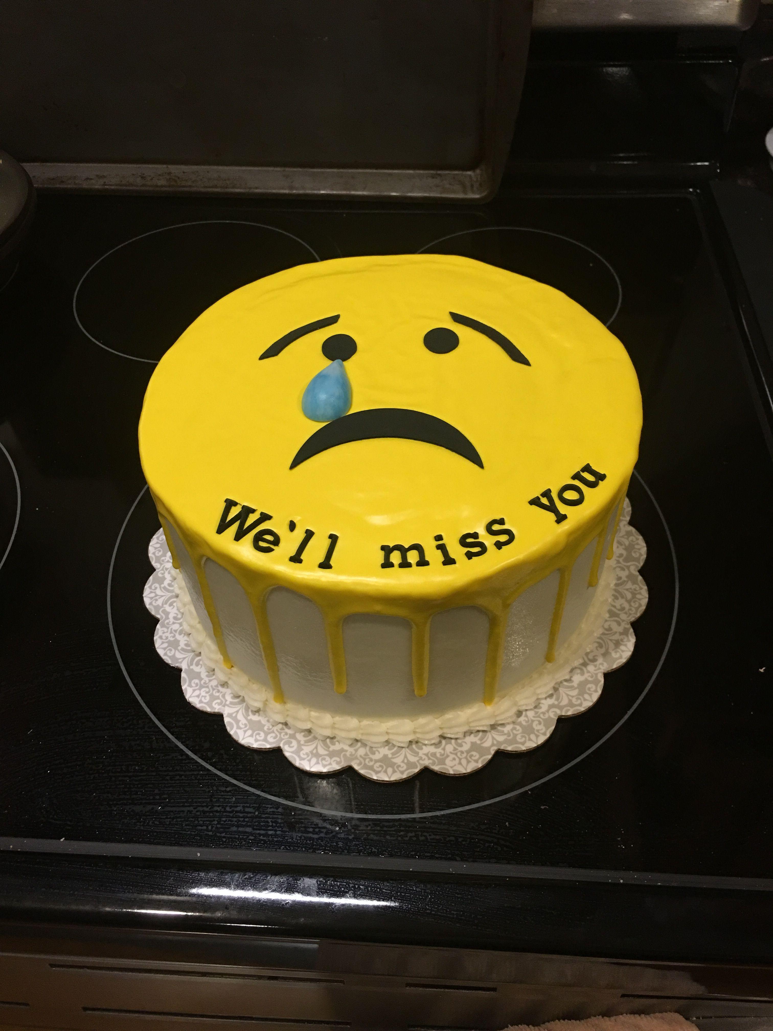 Emoji Cake For A Farewell Party Farewell Cake Retirement Cakes Emoji Cake