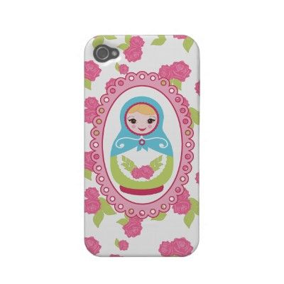 Super cute Russian nesting doll (Matryoshka Doll) iPhone4 case :)