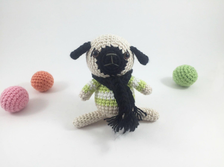 Crocheted Pug, Crochet Dog, Amigurumi Dog, Crochet Animal, Crochet Doll, Amigurumi Doll, Softie Doll, Softie Plush, Pug Doll, Amigurumi Pug by MossyMaze on Etsy https://www.etsy.com/listing/462621002/crocheted-pug-crochet-dog-amigurumi-dog