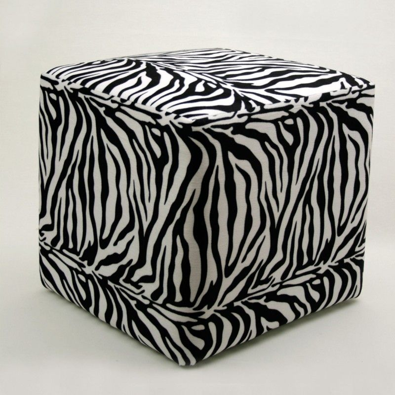 Zebra Print Pouffe Furniture Zebra Print Furniture Ottoman