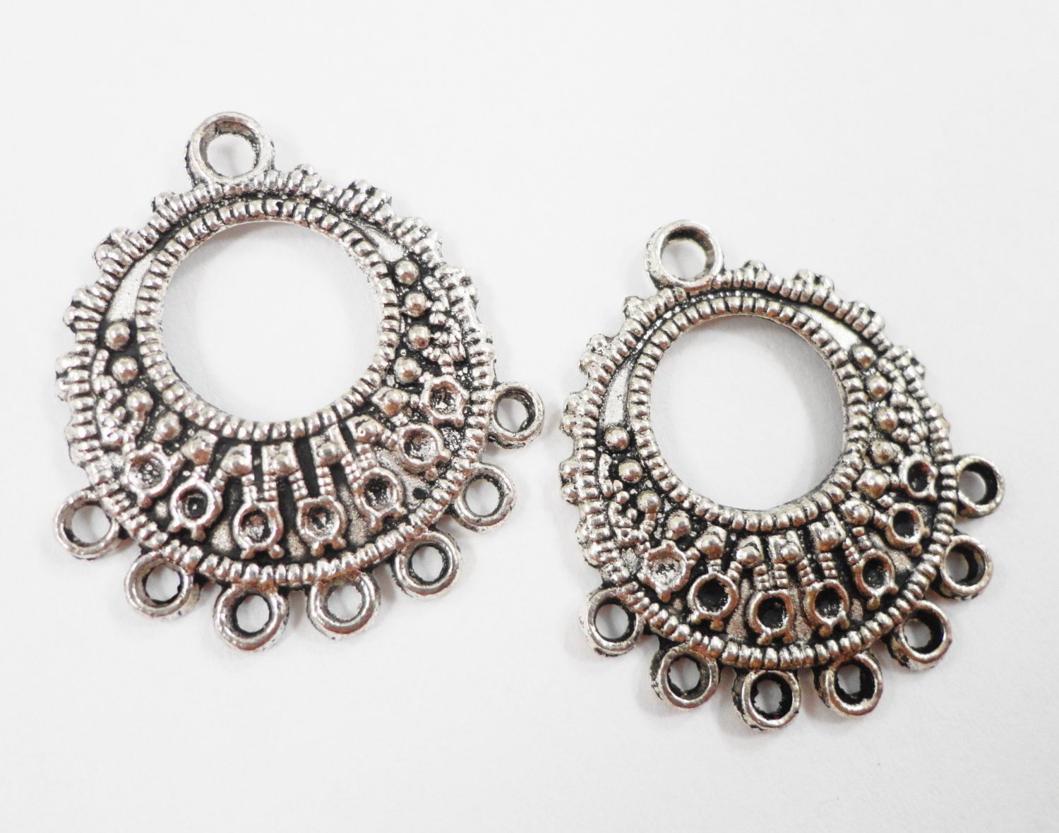 Hoop chandelier earring findings 26x23mm 7 to 1 antique silver hoop chandelier earring findings 26x23mm 7 to 1 antique silver earring connectors connector pendants jewelry connector findings 6pcs arubaitofo Image collections