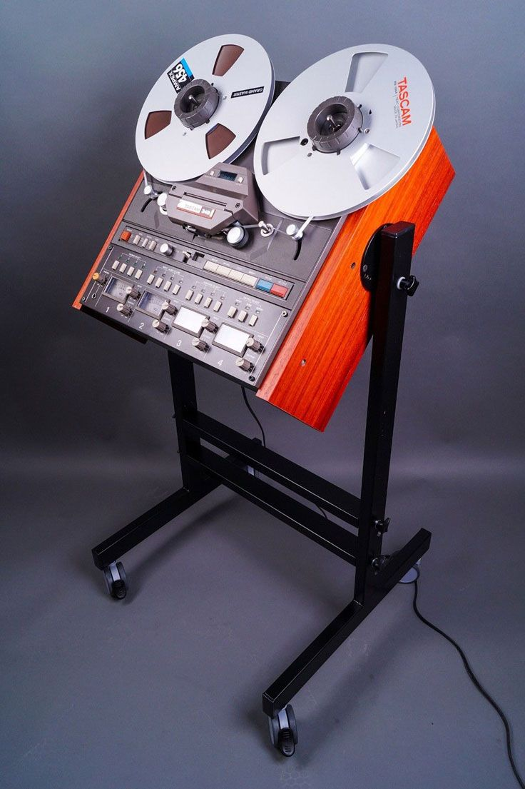 The Tascam 34-B reel to reel recorder on a nice stand!