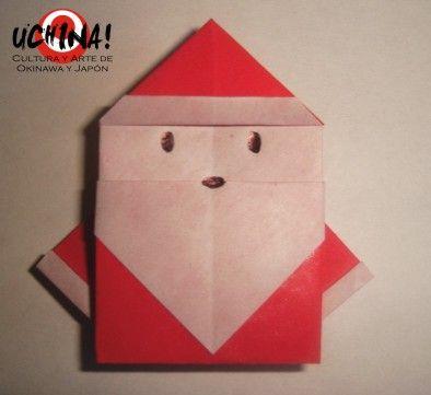 Origami Navideno Papa Noel Christmas Pinterest Papa Noel - Origami-papa-noel