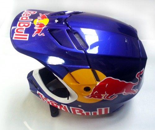76133611 Fox V4 | Red Bull | Star Arts design | Red Bull helmet | Helmet ...