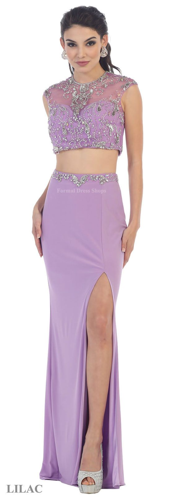 Sale two piece stretchy prom dance dress sweet party sexy