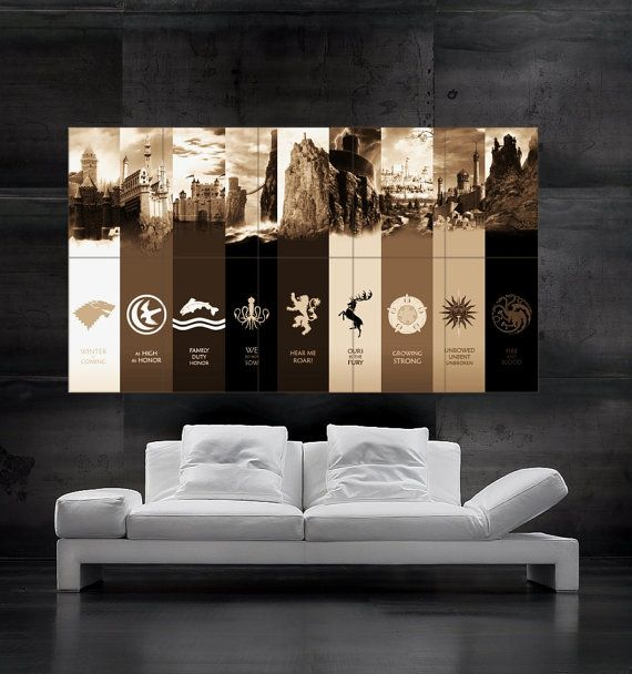 Game Of Thrones Houses Poster Song Of Ice And Fire