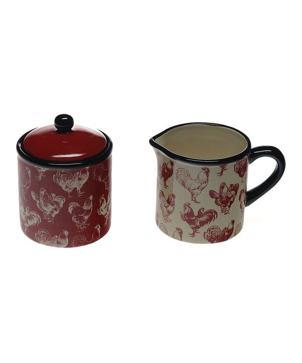 Take a look at this Country Rooster Sugar & Creamer Set on zulily today!