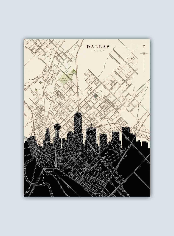 Dallas Skyline, Dallas Art Print, Dallas Decor, Dallas