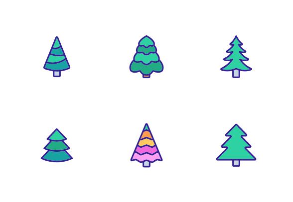Evergreen Pine Tree Icons By Vector Win Tree Icon Evergreen Pine Tree