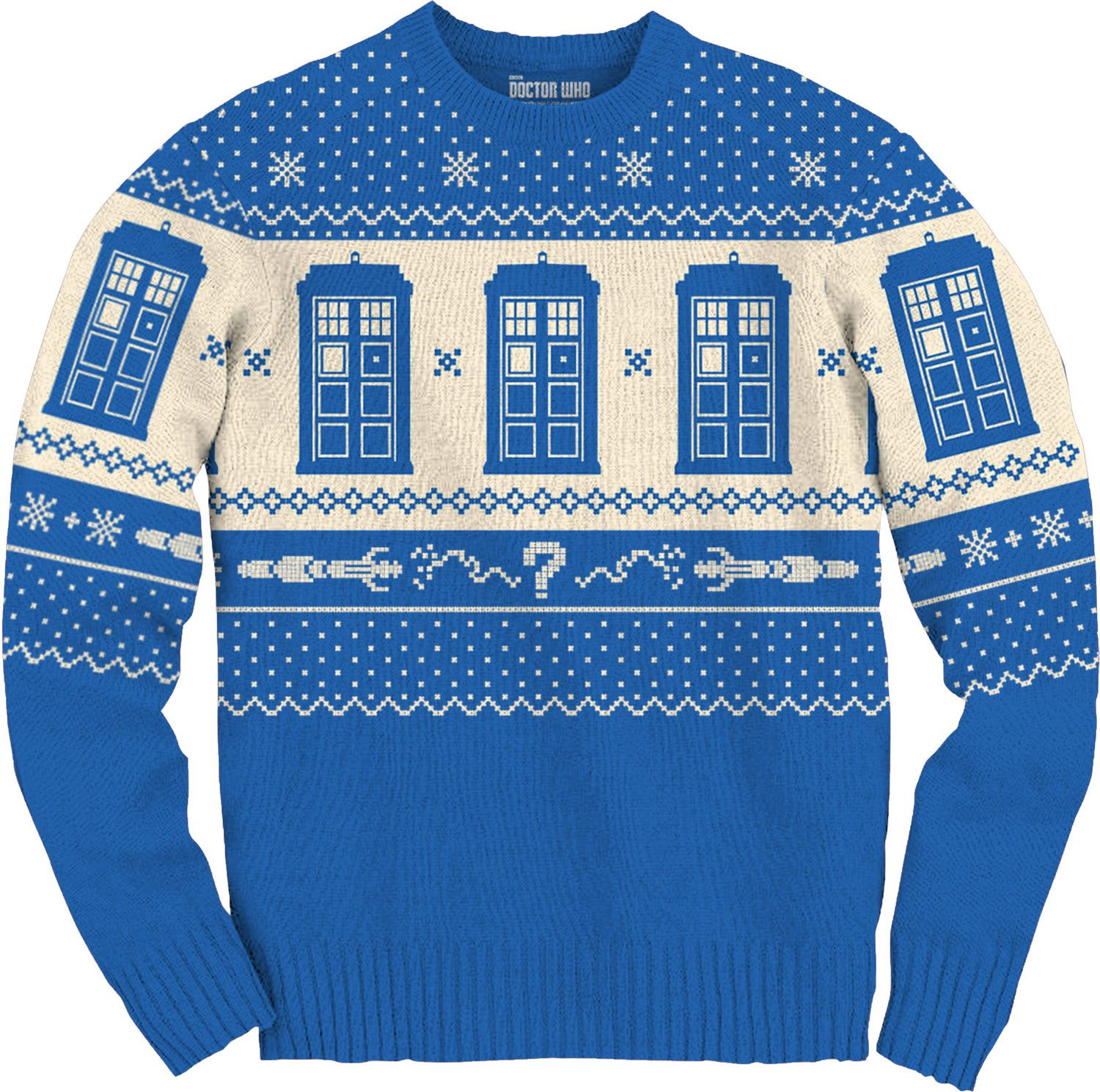 Tardis And Sonic Screwdriver Doctor Who Christmas Sweater Doctor