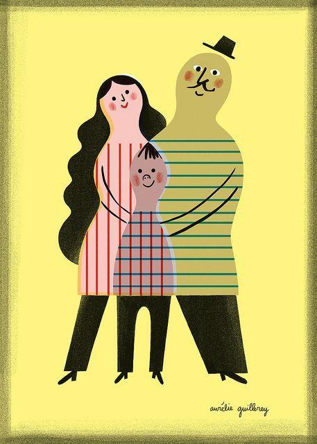Monsieur Horizontal et Madame Verticale - Aurelie Guillerey #ParentingIllustration