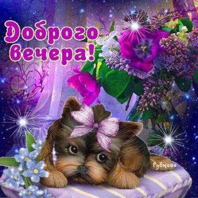 Желаю доброго вечера, позитивная картинка | Открытки ...