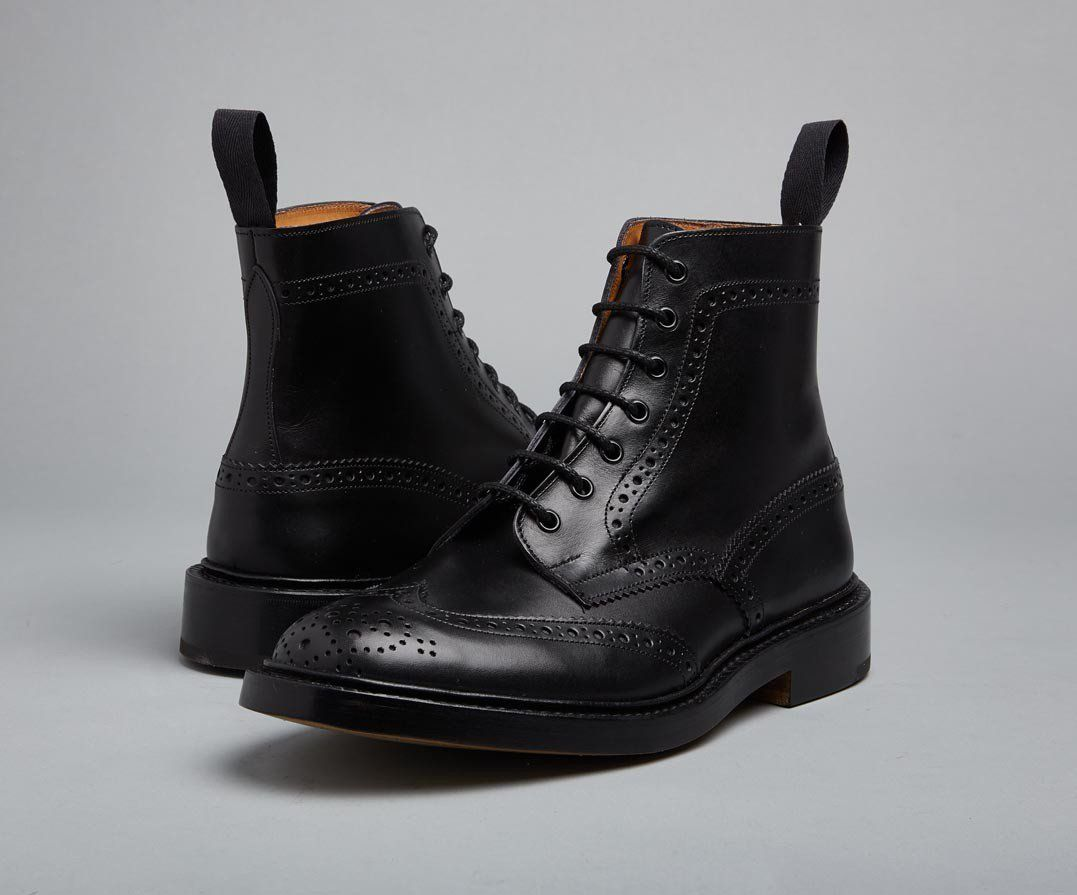 d2297d396d201 Stow Black Country Boot   The Original Handmade English Country Shoes and  Boots by Tricker's