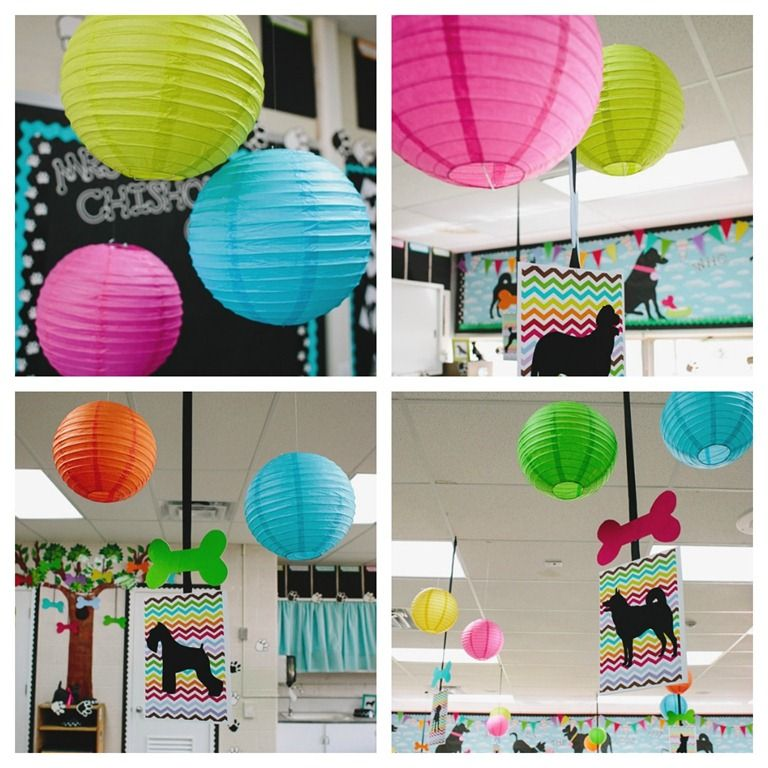 Decorate Classroom With Paper Lanterns Also Loving The Turquoise