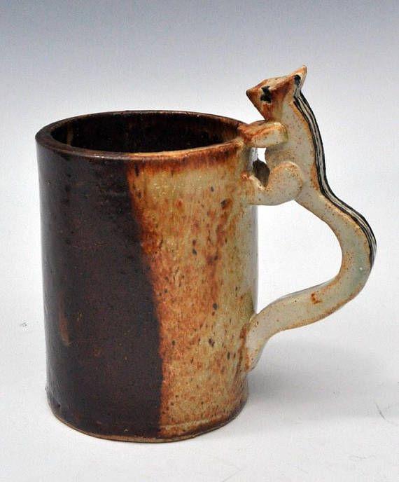 Handmade Chipmunk Mug #ceramicmugs