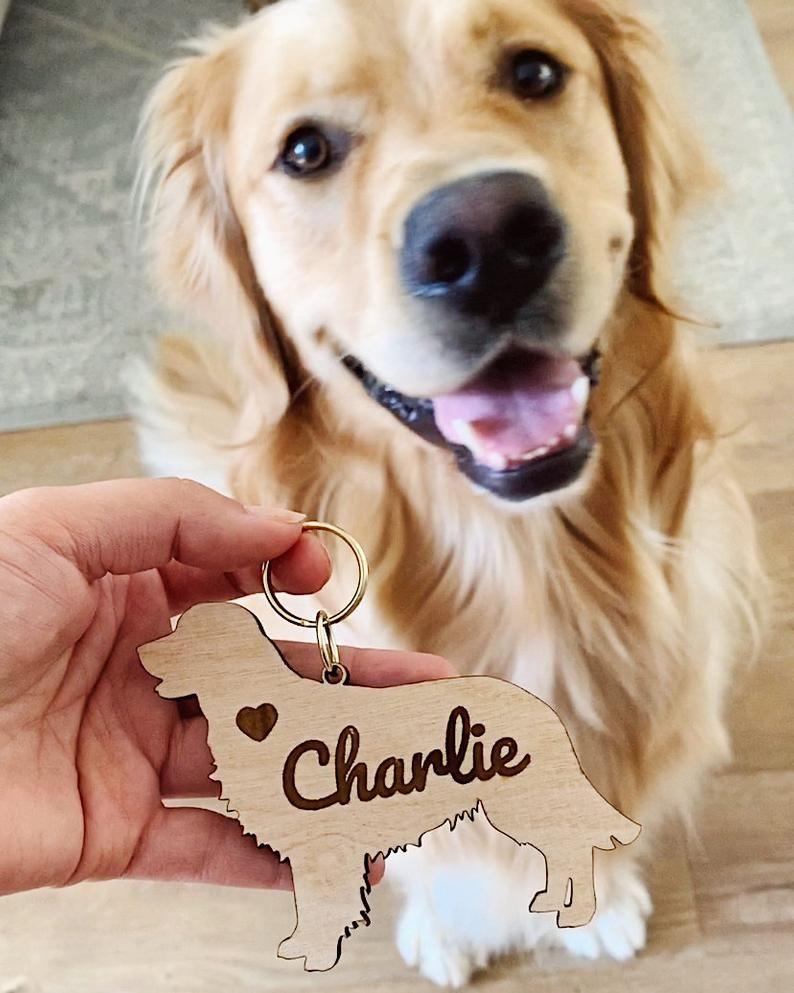 Custom Golden Retriever Dog Keychain Personalized Pet Etsy In 2020 Golden Retriever Dogs Golden Retriever Dog Mom Gifts