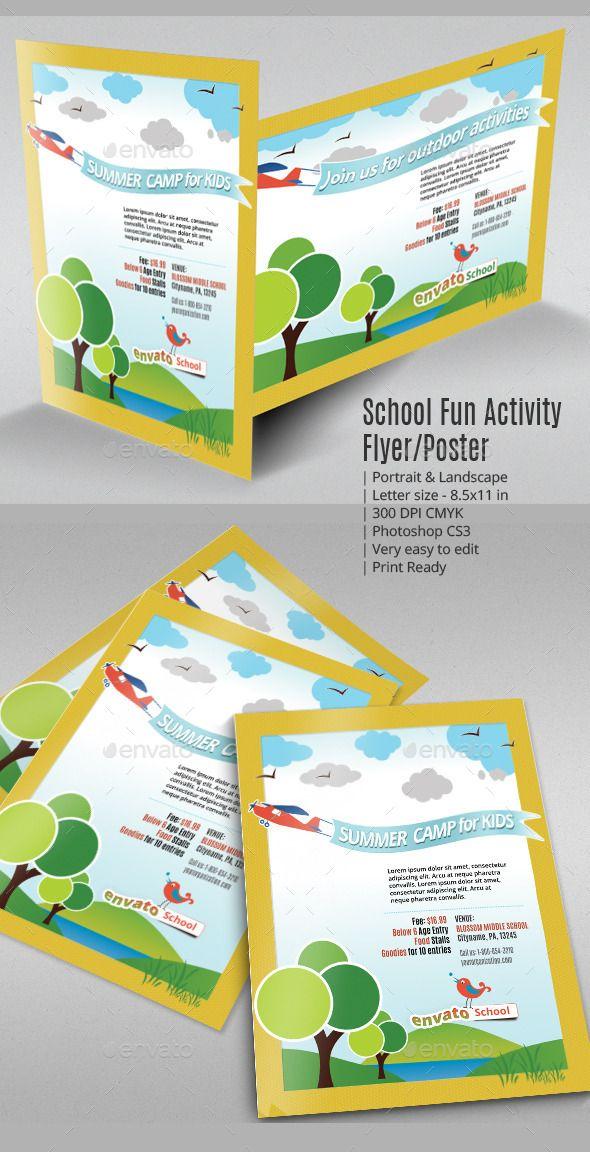School Fun Activity Flyer or Poster Fun activities Activities and
