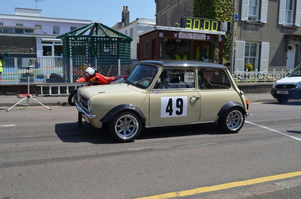 Colin Malzard Mini Clubman 1380cc off the start line | 2013 Jersey ...
