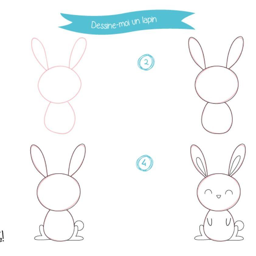 Comment Dessiner Un Lapin Etape 5 Comment Dessiner Un Lapin Dessin Facile Animaux Dessin Chien Facile