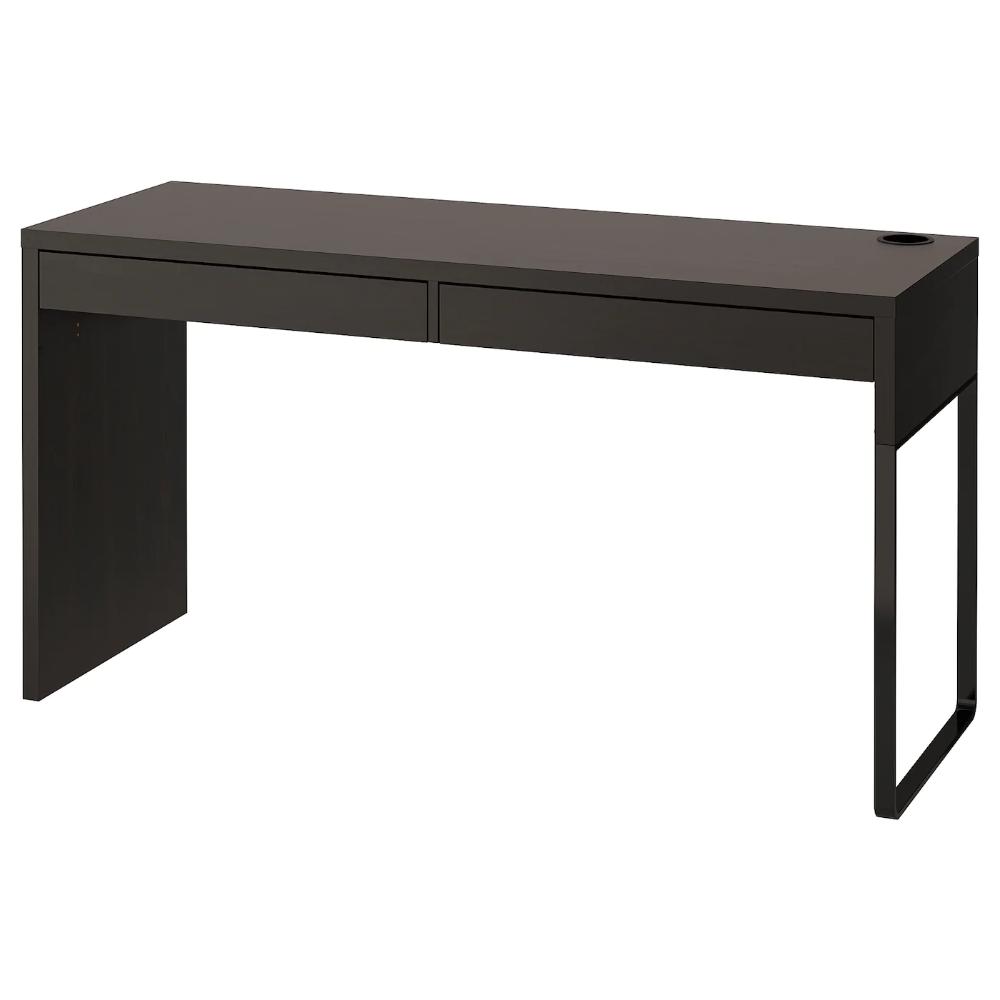 Micke Desk Black Brown 55 7 8x19 5 8 Ikea In 2020 Micke Desk Black Desk Ikea Micke Desk
