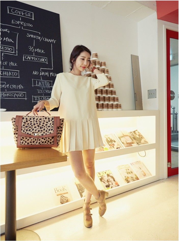Flutter Dress - DRESSES - CLOTHING - WOMEN | Korean Fashion Online Shopping Mall - KOODING.com