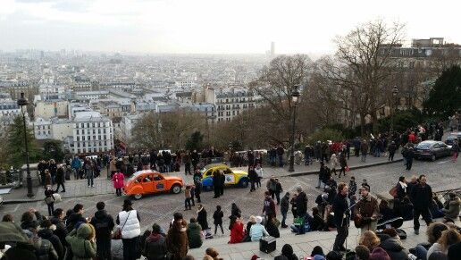 Paris from top of Montmartre-afternoon jazz. Photographed by Carla Adimurthi.