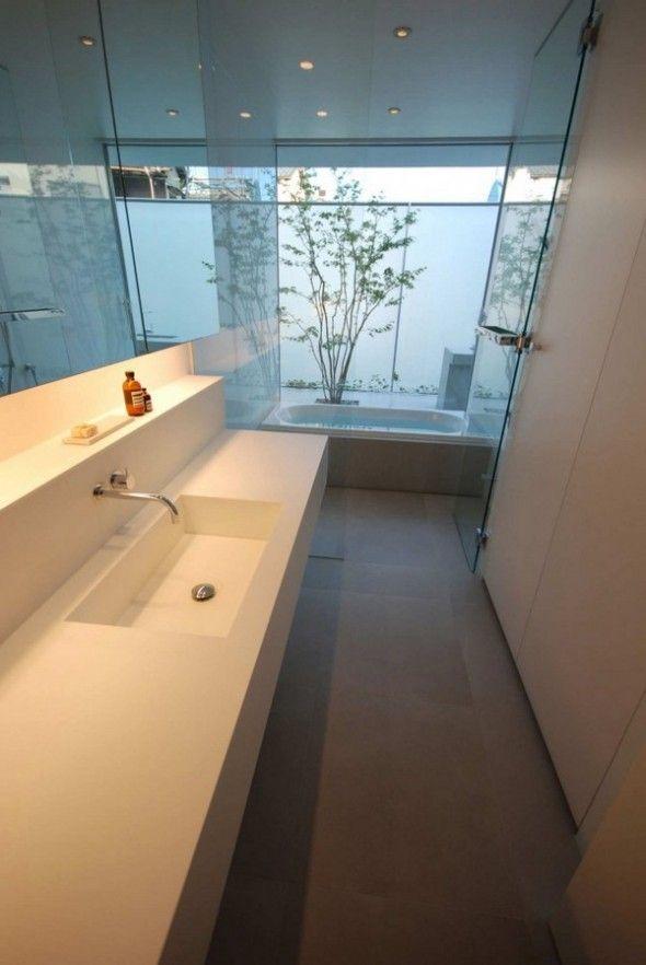 Bathroom And Washbowl Horizontal Deck Unique House Designs