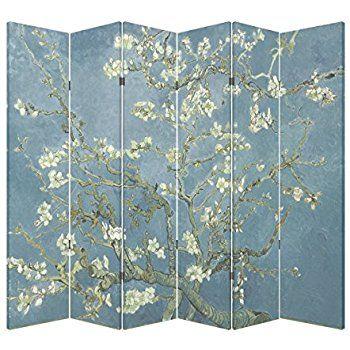 Amazoncom 6 Panel Office Wood Folding Screen Decorative Canvas