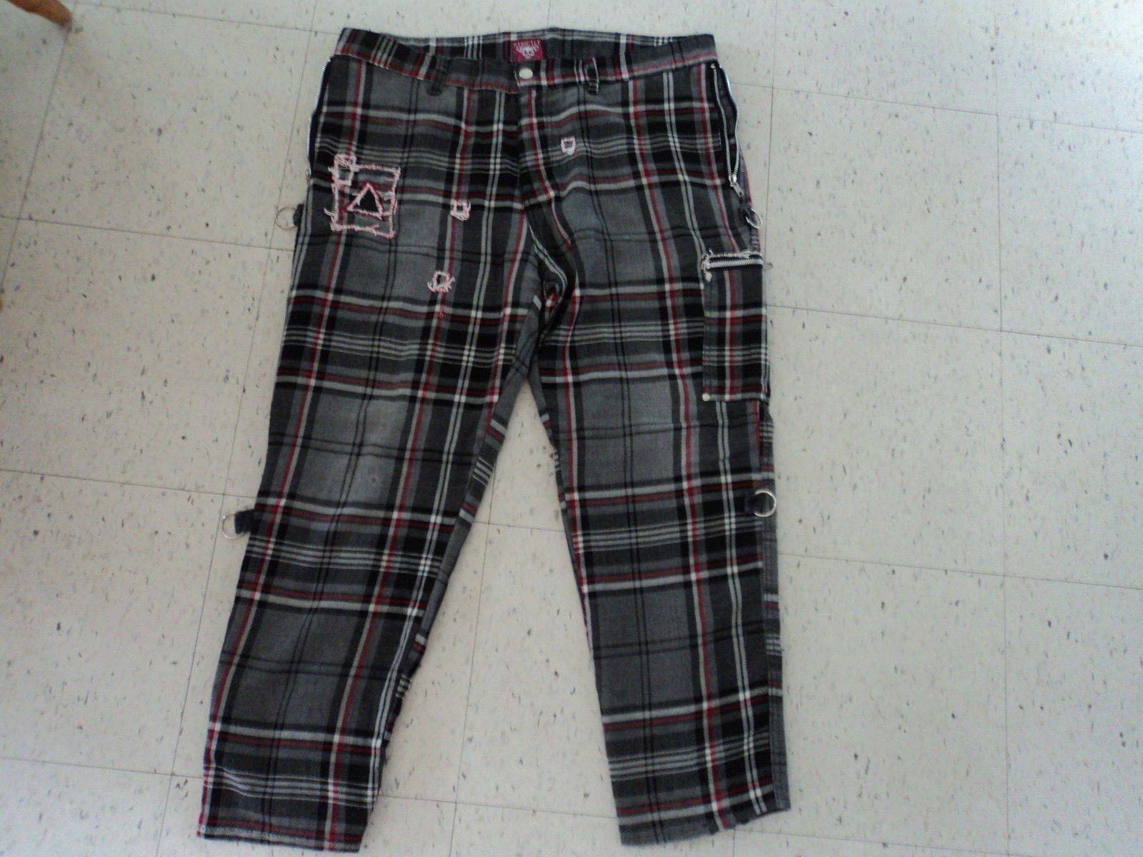 Dogpile Plaid Gray Bondage Pants