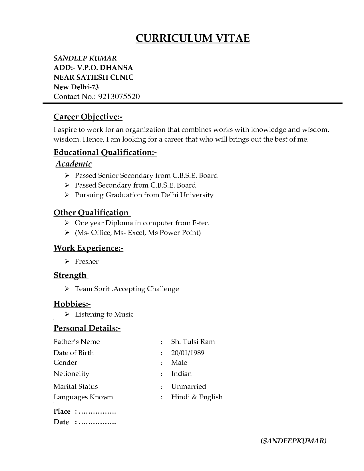 Resume Format Types in 2018 | Resume Format | Pinterest | Resume format
