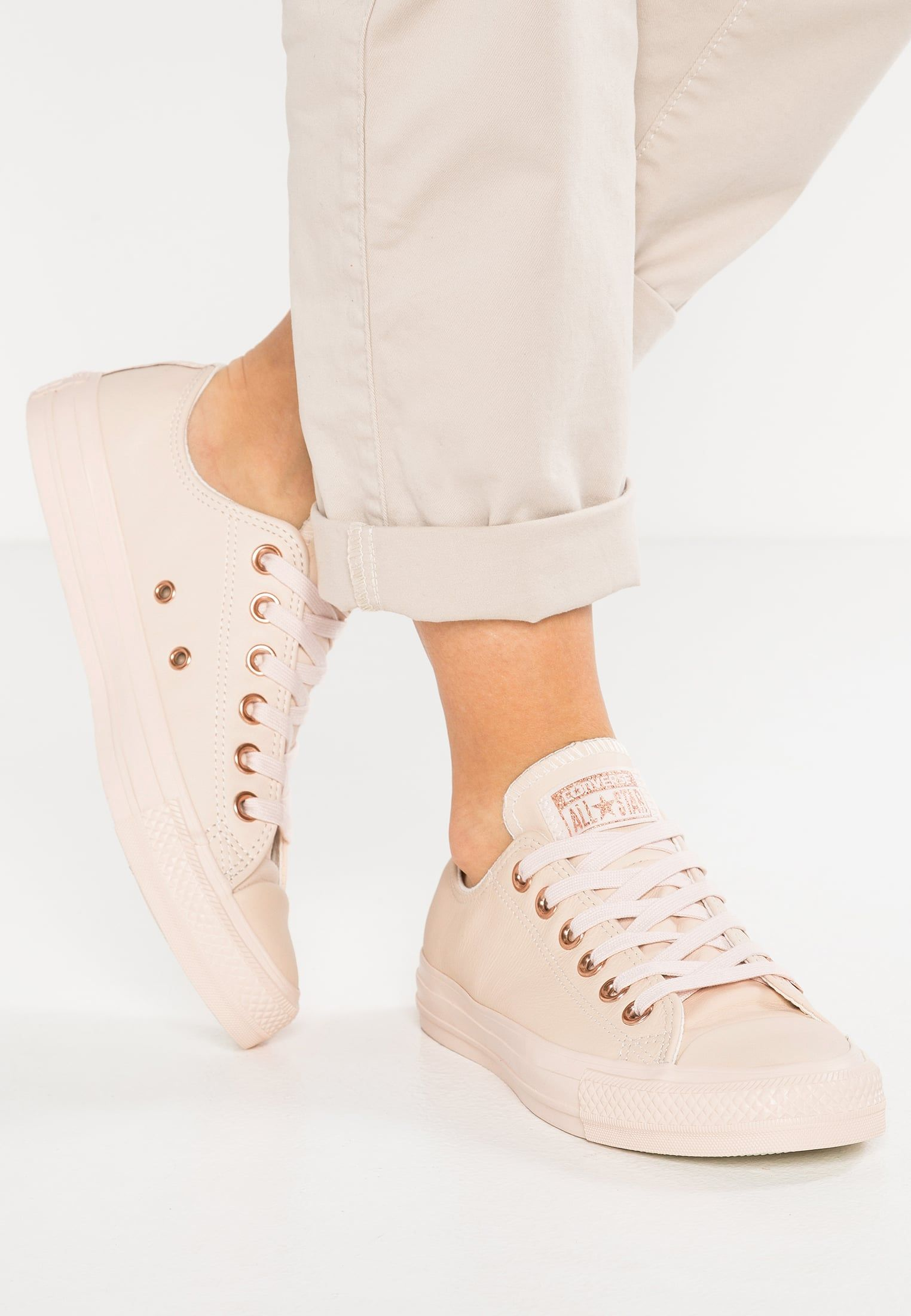 CHUCK TAYLOR ALL STAR LEATHER - PASTELS - Sneaker low - rose/tan @  Zalando.de  <div class=