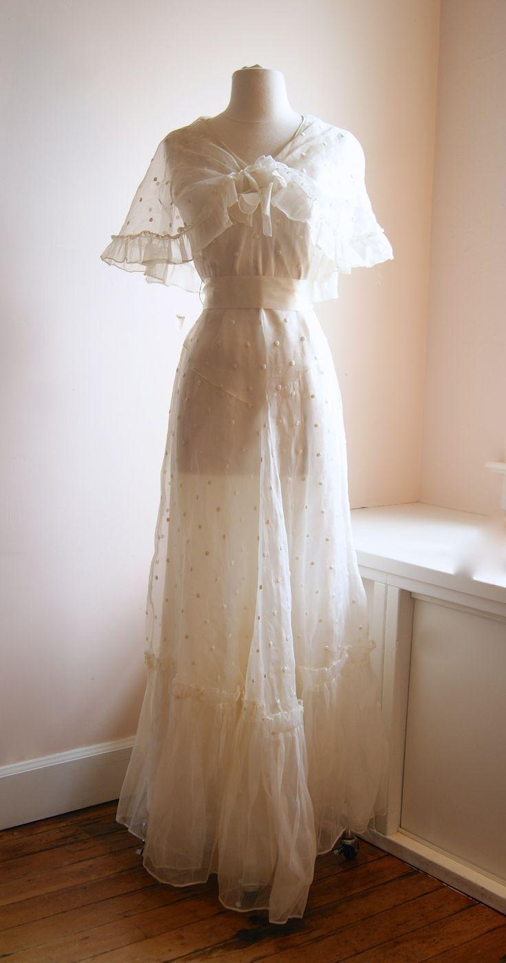 1930s wedding dress  vintage wedding dress  us wedding gown at Xtabay  Vintage