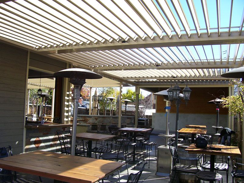Commercial Aluminum Louvered Roof Patio Cover Patio