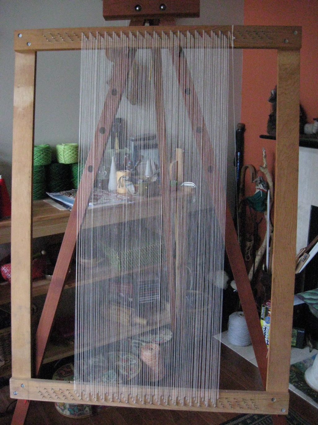 canvas stretcher loom simple frame loomon an easel