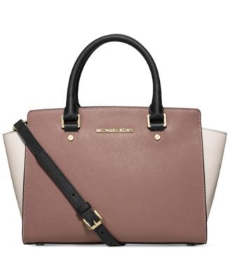 Michael Kors Selma Medium Top Zip Satchel Macys