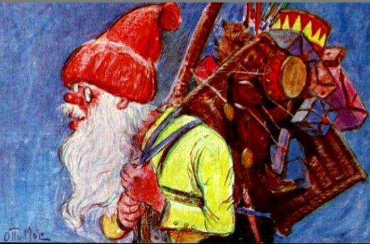 Julekort Otto Moe | Norwegian christmas, Christmas ...