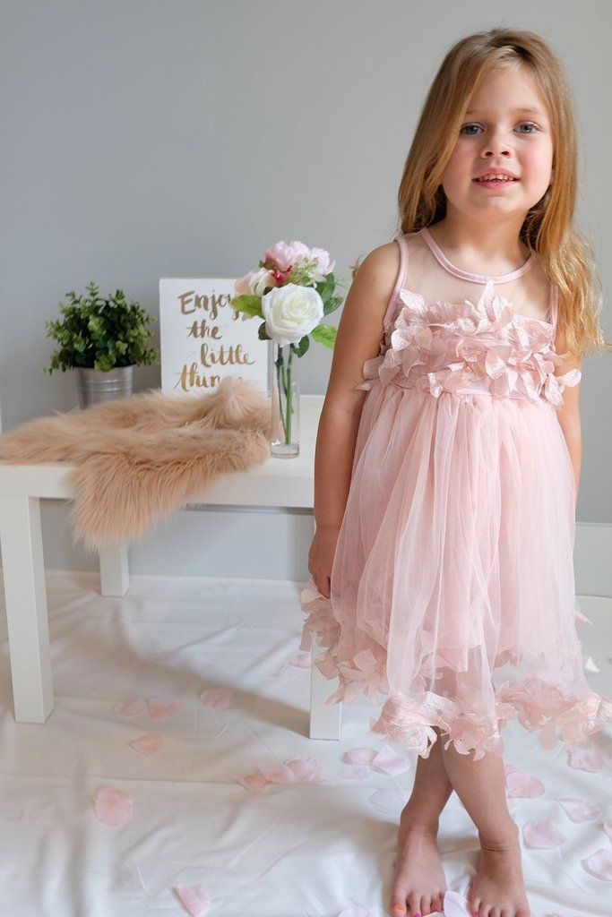 30c3b9df98f Pink tutu flower dress for birthdays