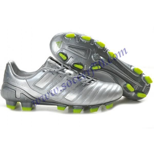 Authentic UEFA CHAMPIONS LEAGUE adidas adiPower Predator Trx FG Shoes in Metal Silver Football Boots
