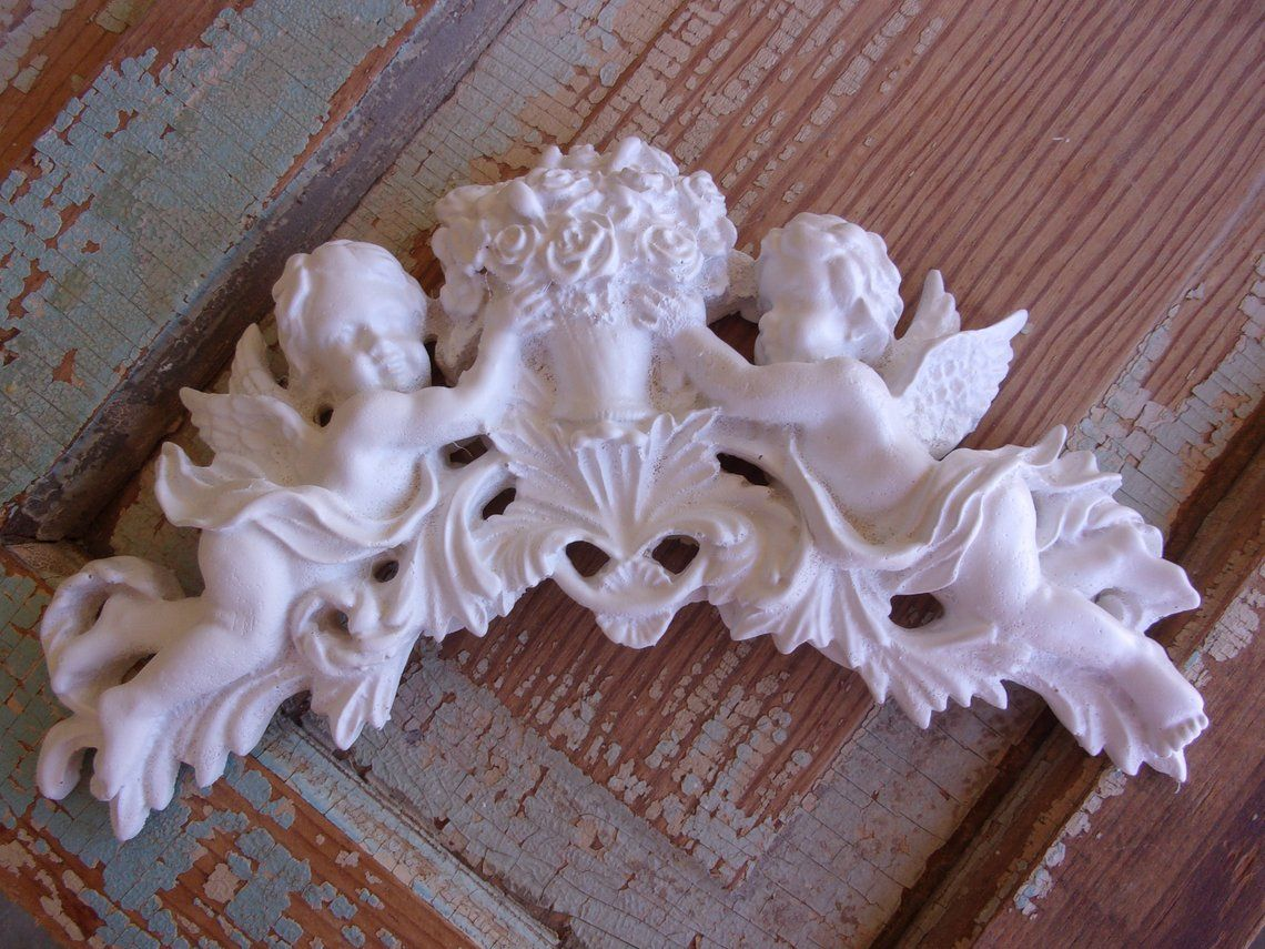 Shabby Chic Roses W Cherubs Angels Furniture Appliques Onlays Mouldings Flexible New Cottage Bab Furniture Appliques Shabby Chic Shabby Chic Furniture