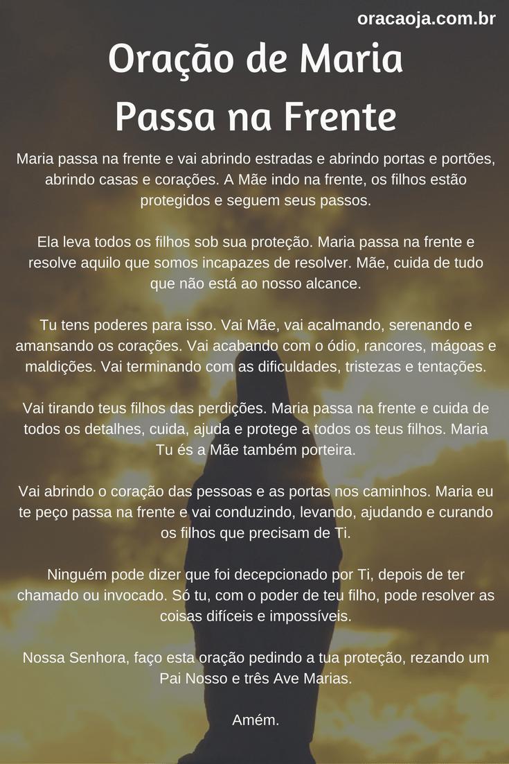 Excepcional Oração de Maria Passa Na Frente #mariapassanafrente | Oração  OQ99