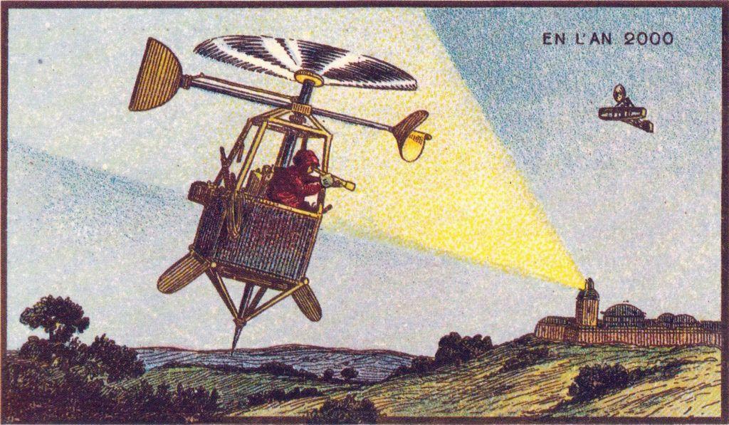 l'an 2000 imagine en 1900 helicoptere