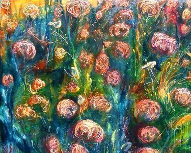 """Saatchi Online Artist kate williamson; Painting, """"Wild Garden Series #3"""" #art"""