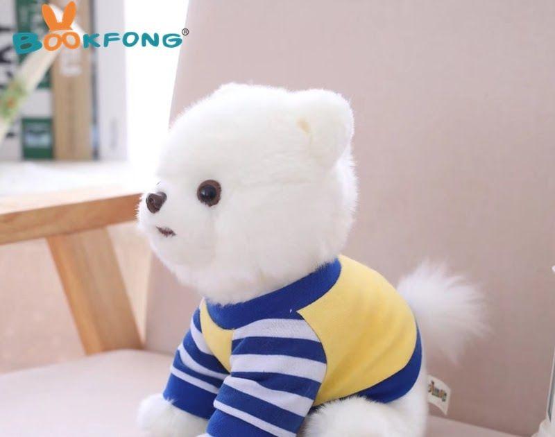 Cheap price 25cm kawaii pomeranian dog plush toy lovely