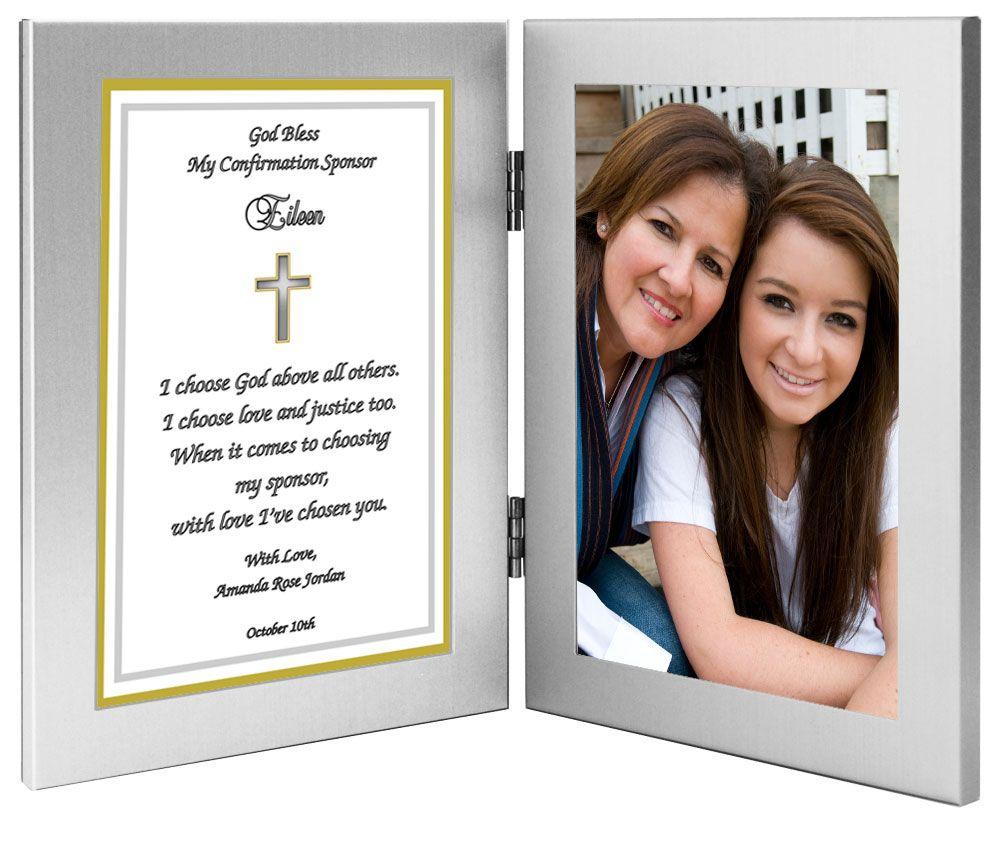 Confirmation Sponsor Frame Gift | Comfirmation ideas mc | Pinterest