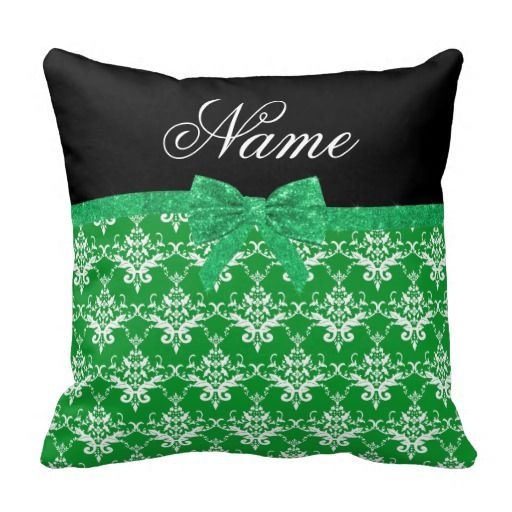 $$$ This is great for          	Custom name green damask glitter bow throw pillows           	Custom name green damask glitter bow throw pillows we are given they also recommend where is the best to buyDiscount Deals          	Custom name green damask glitter bow throw pillows Review on the Th...Cleck Hot Deals >>> http://www.zazzle.com/custom_name_green_damask_glitter_bow_throw_pillows-189310753003119982?rf=238627982471231924&zbar=1&tc=terrest