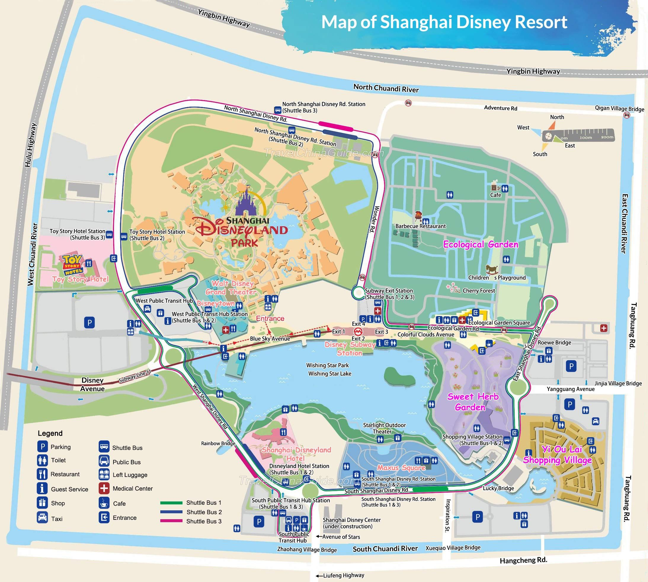 Disney Shanghai Map Google Search Disneyland Map Disney Shanghai Shanghai Map